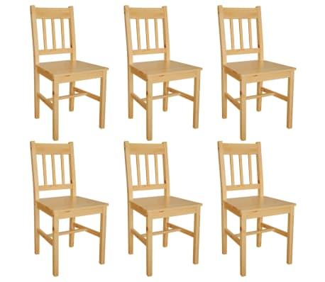 vidaXL Dining Chairs 6 pcs Pinewood