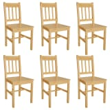 vidaXL Dining Chairs 6 pcs Pinewood