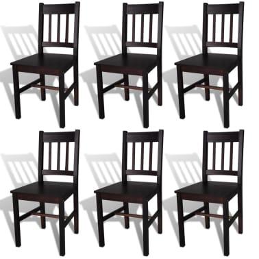vidaXL Dining Chairs 6 pcs Wood Brown[1/5]