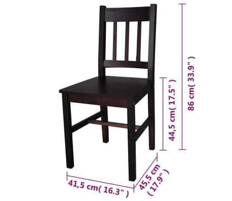 vidaXL Dining Chairs 6 pcs Wood Brown[5/5]