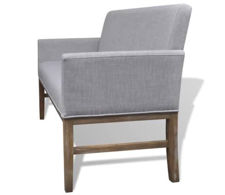 acheter vidaxl banc avec coussin rembourr tissu h v a gris clair pas cher. Black Bedroom Furniture Sets. Home Design Ideas