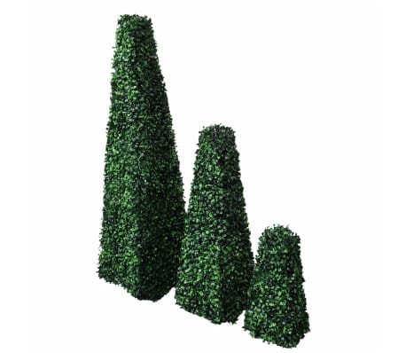 Set of 3 Artificial Boxwood Pyramid Topiary[1/4]
