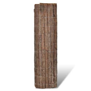 vidaXL Rindenzaun 400×100 cm[2/5]