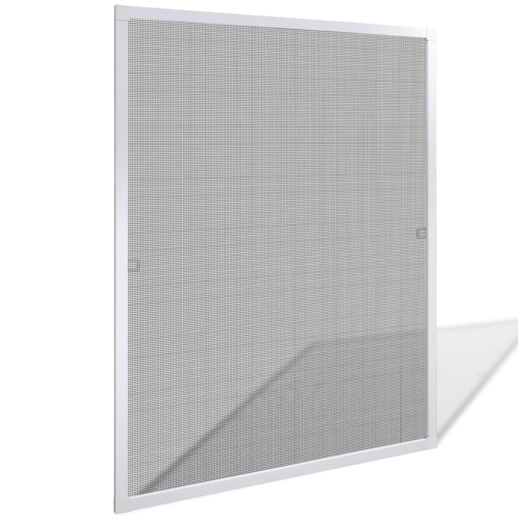 Bílá okenní síť proti hmyzu 80 x 100 cm