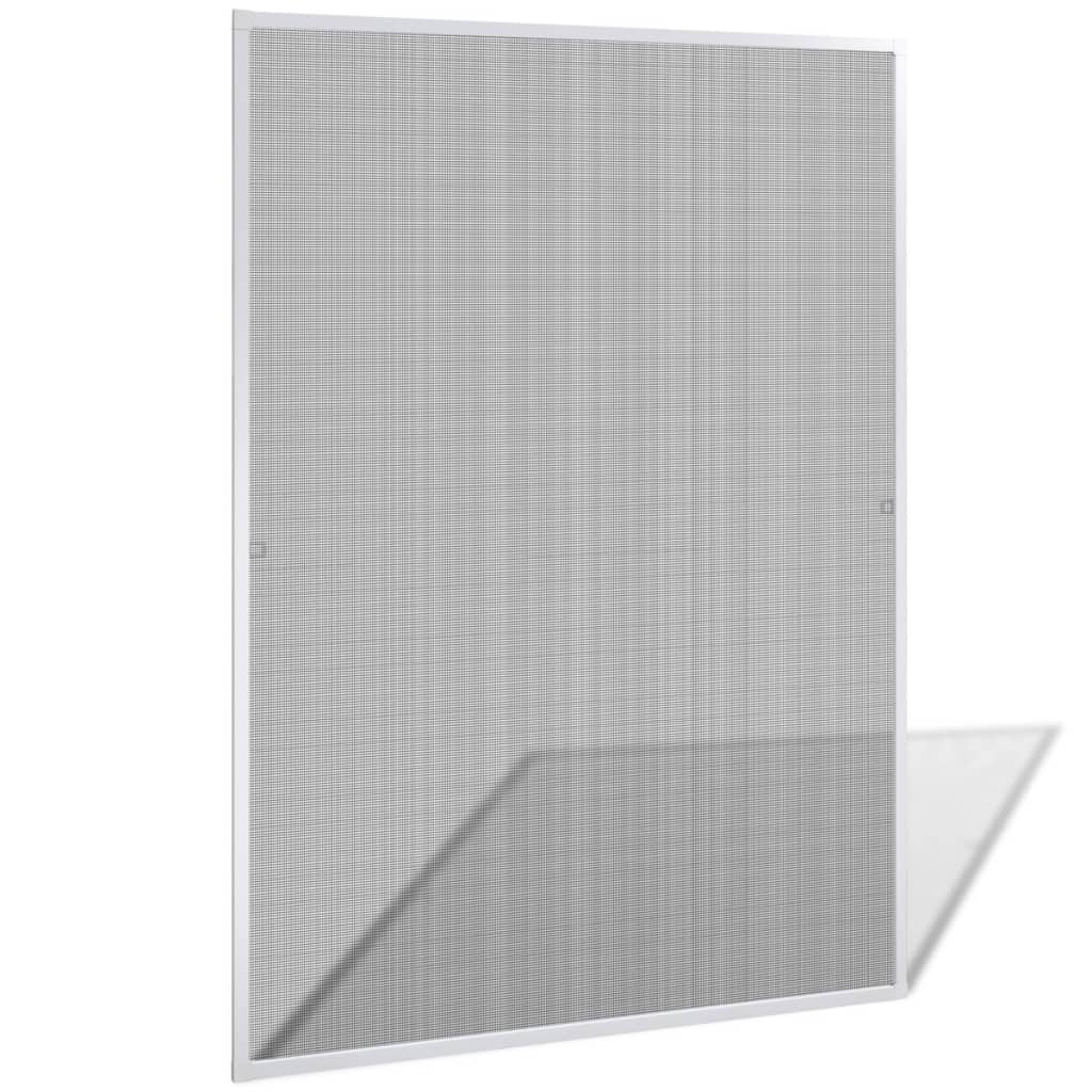 Bílá okenní síť proti hmyzu 130 x 150 cm