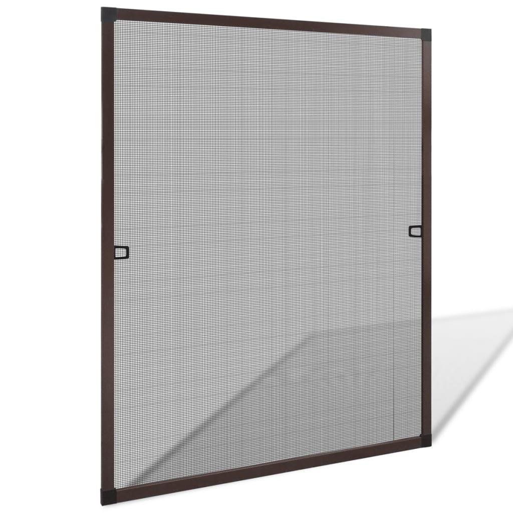 Hnědá okenní síť proti hmyzu 80 x 100 cm
