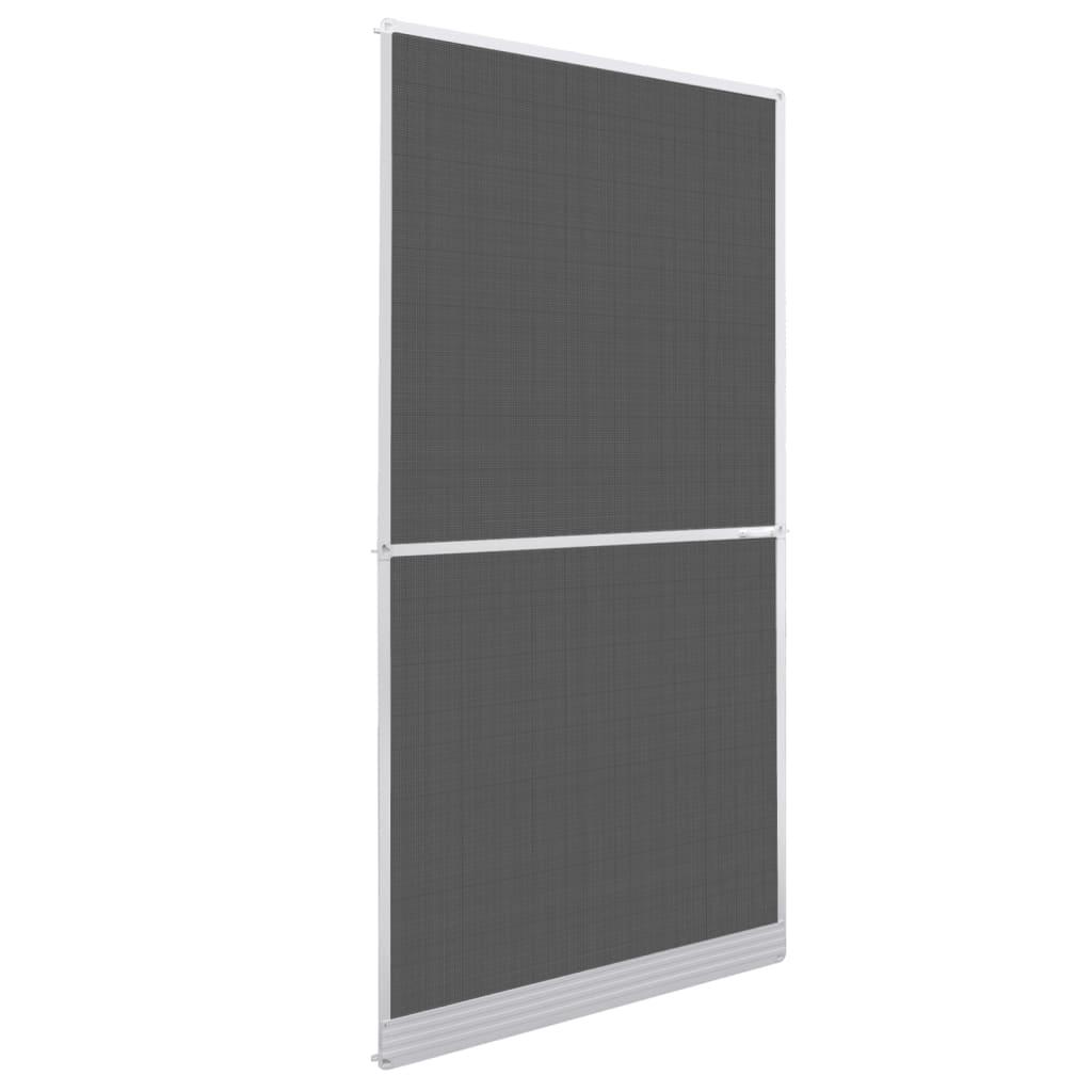 Plasă albă cu balamale pentru uși împotriva insectelor 100 x 215 cm imagine vidaxl.ro