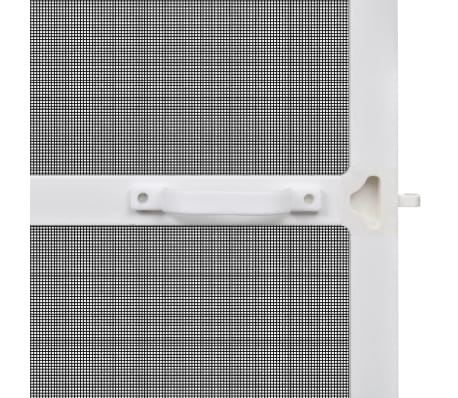 "White Hinged Insect Screen for Doors 39.4""x84.6""[4/8]"