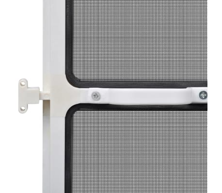 "White Hinged Insect Screen for Doors 39.4""x84.6""[7/8]"