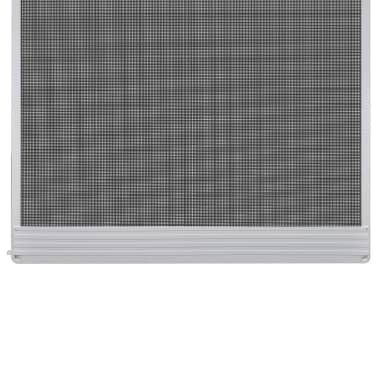 "White Hinged Insect Screen for Doors 39.4""x84.6""[3/8]"