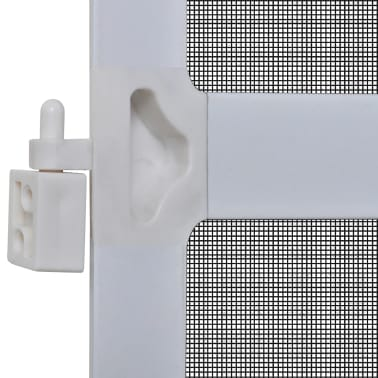 "White Hinged Insect Screen for Doors 39.4""x84.6""[5/8]"