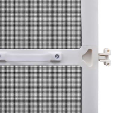 "White Hinged Insect Screen for Doors 39.4""x84.6""[6/8]"