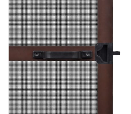"Brown Hinged Insect Screen for Doors 39.4""x84.6""[4/8]"