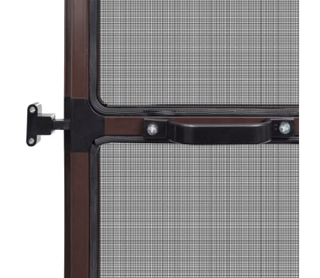 "Brown Hinged Insect Screen for Doors 39.4""x84.6""[6/8]"