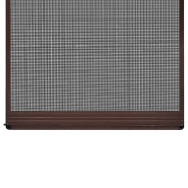 "Brown Hinged Insect Screen for Doors 39.4""x84.6""[3/8]"
