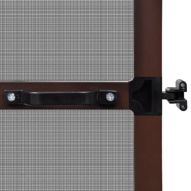 "Brown Hinged Insect Screen for Doors 39.4""x84.6""[5/8]"