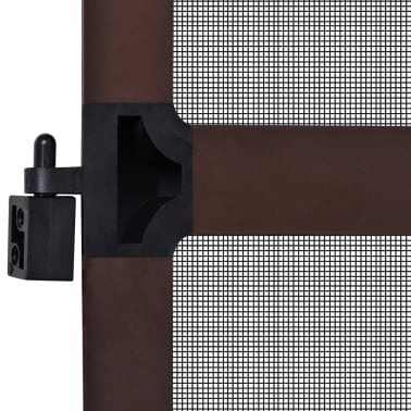 "Brown Hinged Insect Screen for Doors 39.4""x84.6""[7/8]"