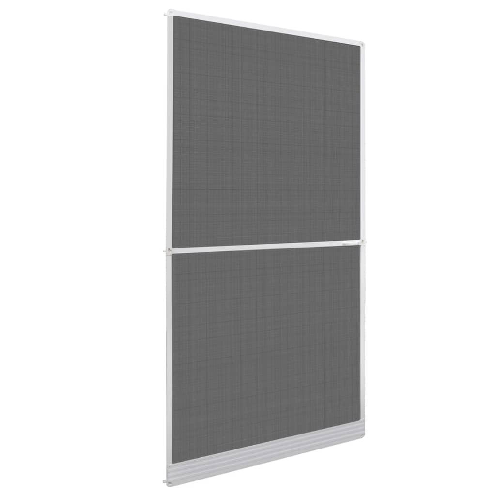 Plasă albă cu balamale pentru uși împotriva insectelor 120 x 240 cm poza 2021 vidaXL