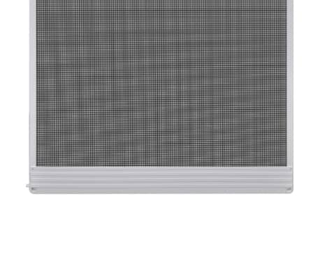 "White Hinged Insect Screen for Doors 47.2""x94.5""[3/8]"