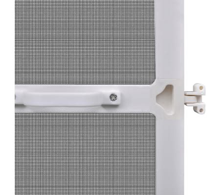 "White Hinged Insect Screen for Doors 47.2""x94.5""[6/8]"