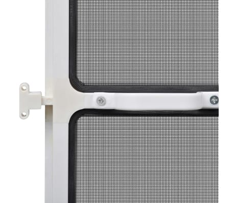 "White Hinged Insect Screen for Doors 47.2""x94.5""[7/8]"