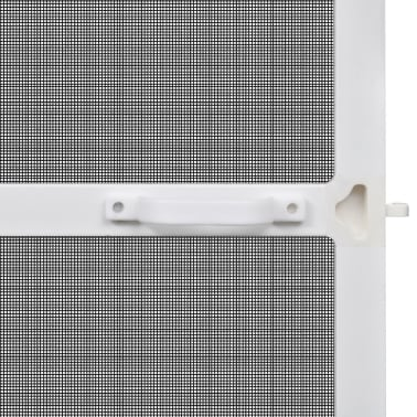 "White Hinged Insect Screen for Doors 47.2""x94.5""[4/8]"