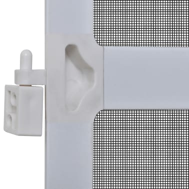 Bela krilna mreža proti insektom za vrata 120 x 240 cm[5/8]