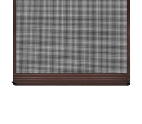 "Brown Hinged Insect Screen for Doors 47.2""x94.5""[3/8]"