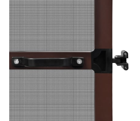 "Brown Hinged Insect Screen for Doors 47.2""x94.5""[5/8]"