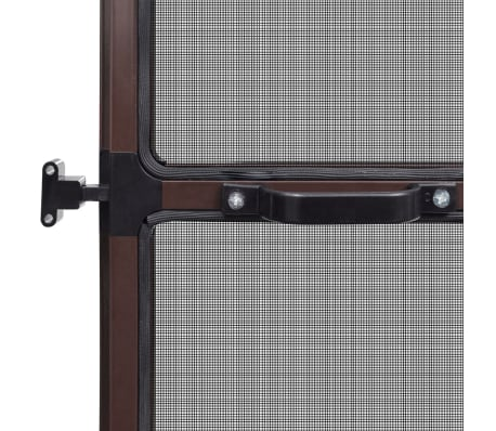 "Brown Hinged Insect Screen for Doors 47.2""x94.5""[6/8]"