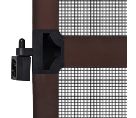 "Brown Hinged Insect Screen for Doors 47.2""x94.5""[7/8]"