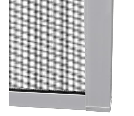"White Sliding Insect Screen for Doors 47.2""x84.6""[7/9]"