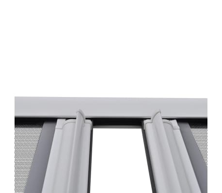 "White Sliding Insect Screen for Double Doors 84.6""x84.6""[4/11]"