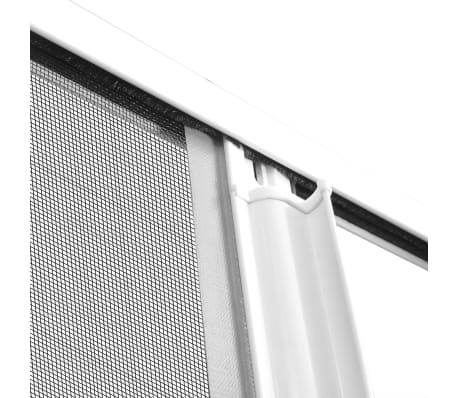 Biela posúvacia sieť proti hmyzu na dvojité dvere 215 x 215 cm[9/11]