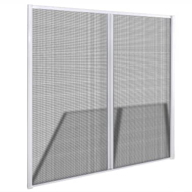 "White Sliding Insect Screen for Double Doors 84.6""x84.6""[3/11]"