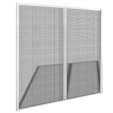 Biela posúvacia sieť proti hmyzu na dvojité dvere 215 x 215 cm[3/11]