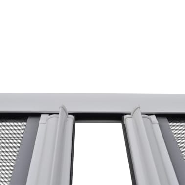 Biela posúvacia sieť proti hmyzu na dvojité dvere 215 x 215 cm[4/11]