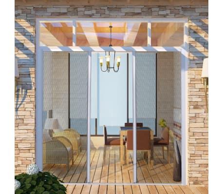 Vidaxl Moustiquaire Coulissante Blanc Pour Porte Fenêtre 215x215 Cm