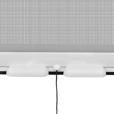 Hvit Nedrullbar insektskjerm for vinduer 100 x 170 cm[4/6]