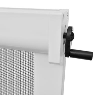 Hvit Nedrullbar insektskjerm for vinduer 100 x 170 cm[5/6]