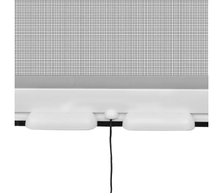 """White Roll Down Insect Screen for Windows 55.1""""x66.9""""[4/6]"""
