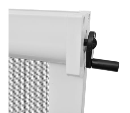 """White Roll Down Insect Screen for Windows 55.1""""x66.9""""[5/6]"""