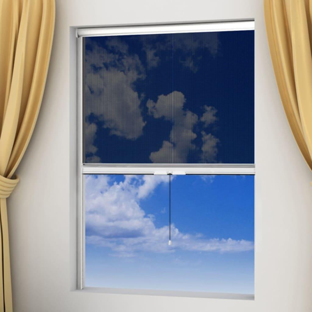 Bílá stahovací síť proti hmyzu na okna 140 x 170 cm