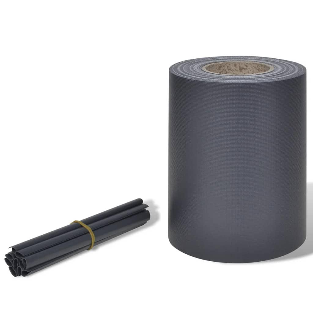 Περίφραξη Πλεκτή σε Ρολό Σκούρο Γκρι 70 x 0,19 μ. από PVC