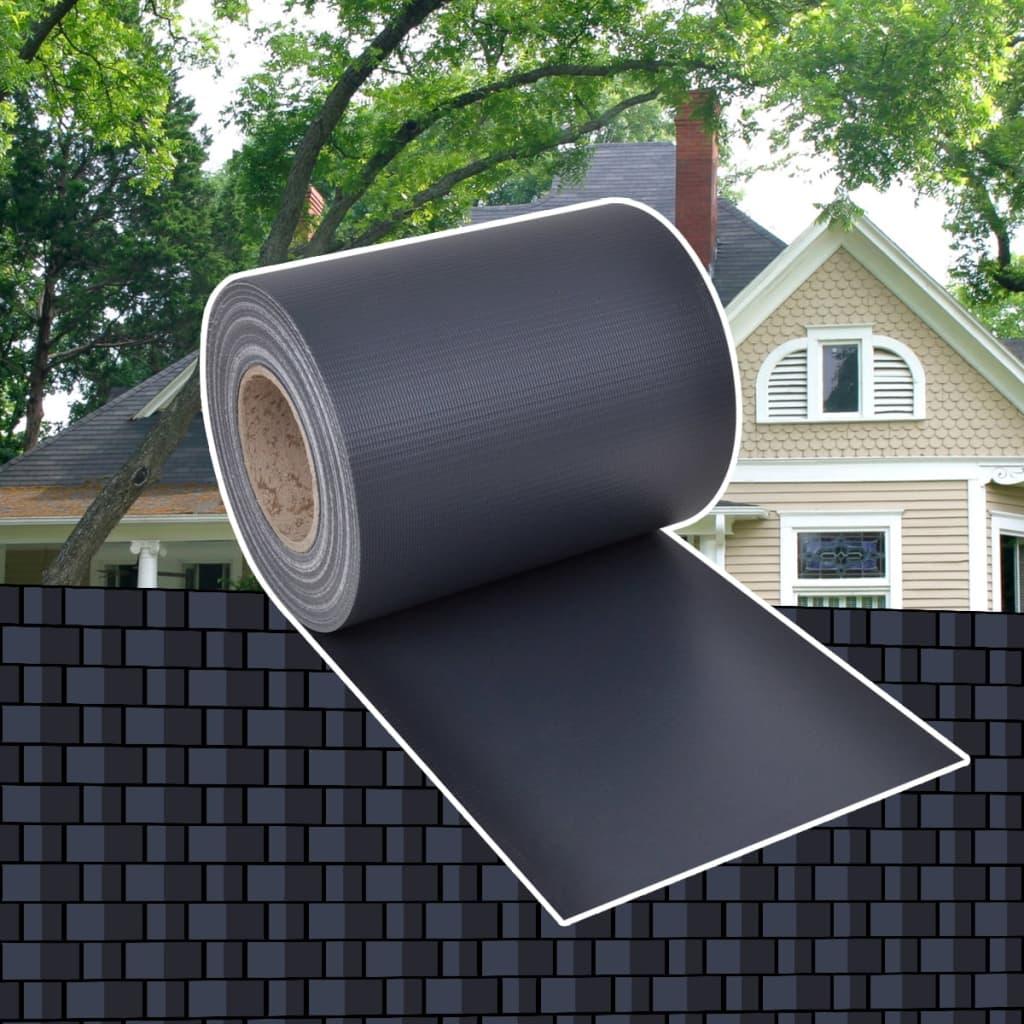 vidaXL Περίφραξη Πλεκτή σε Ρολό Σκούρο Γκρι 70 x 0,19 μ. από PVC