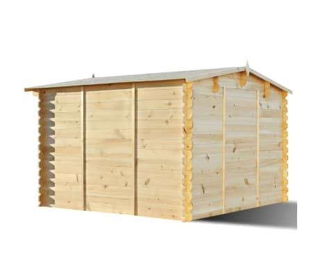 vidaxl 3x3m holz gartenhaus gartenh tte schuppen ger tehaus ger teschuppen 28mm ebay. Black Bedroom Furniture Sets. Home Design Ideas