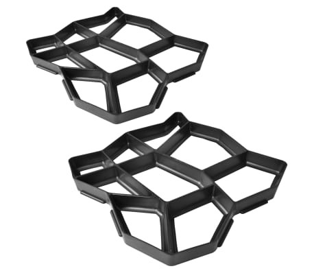 vidaXL Pavement Mold for the Garden 42 x 42 x 4 cm Set 2 pcs
