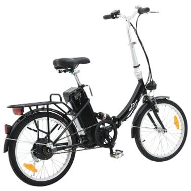 vidaXL Vélo électrique pliable et pile lithium-ion Alliage d