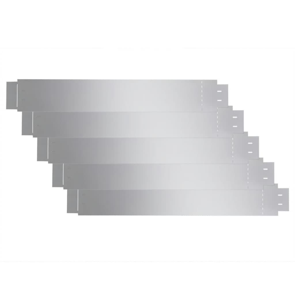 Afbeelding van vidaXL Grasboord flexibel 100x15 cm 5 stuks gegalvaniseerd staal