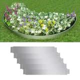 vidaXL Set of 5 Flexible Lawn Fence Galvanised Steel 100 x 15 cm